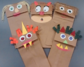 teacher lesson plan brave monster arts and crafts puppet class activity