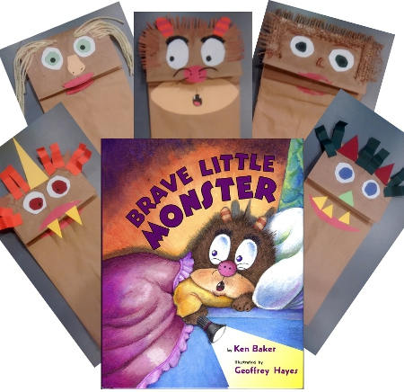 Brave Monster Puppet Lesson Plan and Class Activity