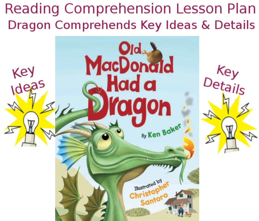 Reading Comprehension Lesson Plan: Dragon Comprehends Key Ideas and Details lesson plan